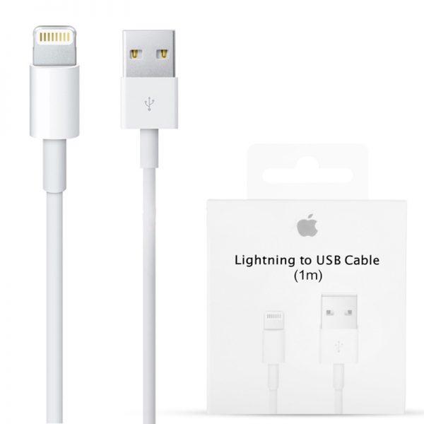 b74bf407f34 InicioTiendaAccesoriosAccesorios AppleCable de conector Lightning a USB (1  mt). 0611-600×600